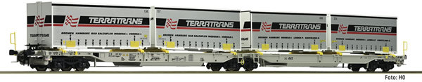 Fleischmann 825011 - 2pc Articulated double pocket wagon T2000 AAE