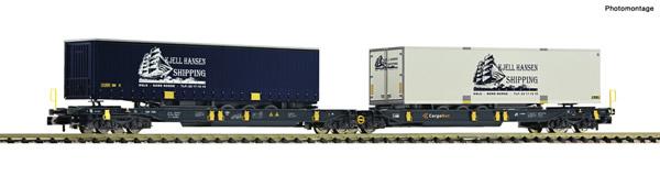 Fleischmann 825012 - Articulated double pocket wagon + Kjell Hansen