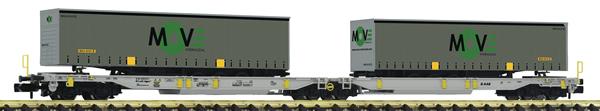 Fleischmann 825025 - Articulated double pocket wagon, AAE