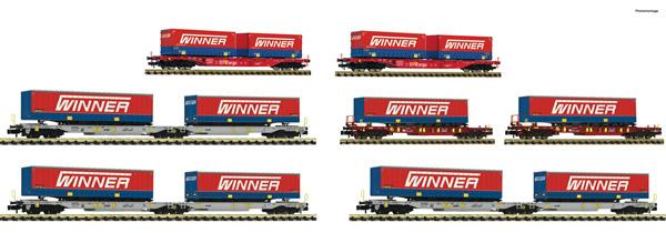 """Fleischmann 825030 - 7 piece display: """"Forwarding agent Winner"""""""