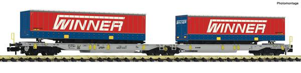 Fleischmann 825032 - Articulated double pocket wagon T2000 + Winner Display 825030 #2