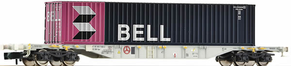 Fleischmann 825208 - Container Wagon BELL Container operated by ERMEW