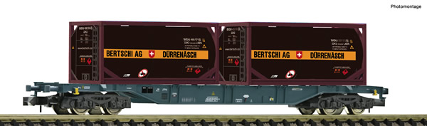 Fleischmann 825213 - Container carrier wagon type Sgns Private