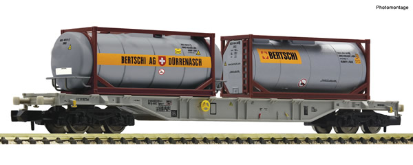 Fleischmann 825214 - Container carrier wagon