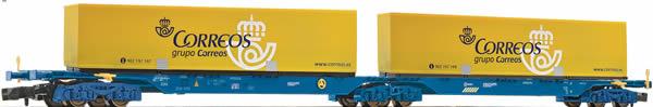 Fleischmann 825336 - Double Carrier Wagon CORREOS type Sggmrs
