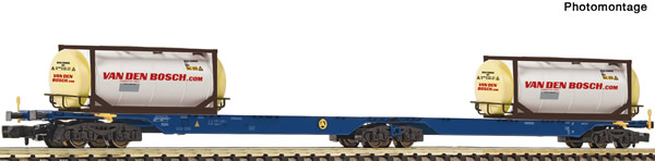 Fleischmann 825338 - Double container carrier wagon type Sggmrs AAE