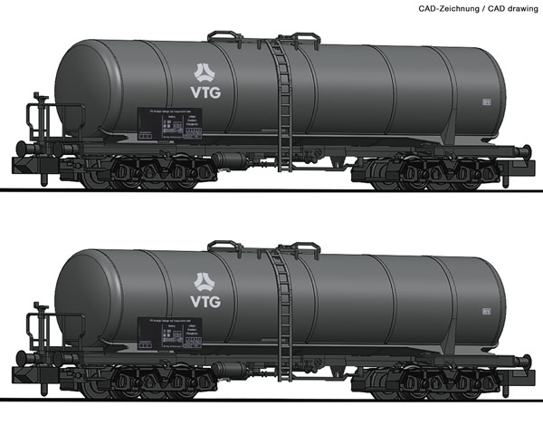 Fleischmann 825810 - 2 piece set tank wagons VTG