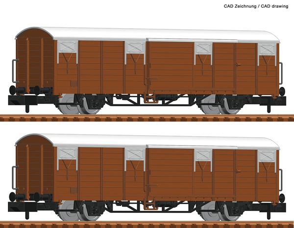Fleischmann 826210 - 2 piece set boxcars