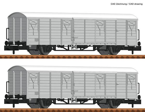 Fleischmann 826212 - 2 piece set refrigerated wagons