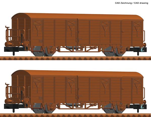 Fleischmann 826214 - 2 piece set boxcars