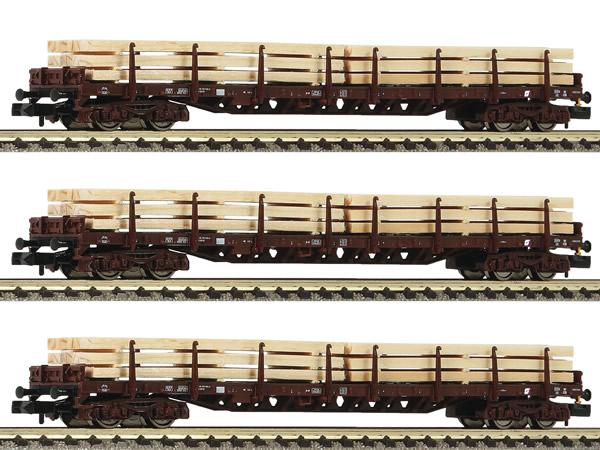 "Fleischmann 826810 - 3 piece set ""Holzzug"" with stanchion wagons type Rs ÖBB"