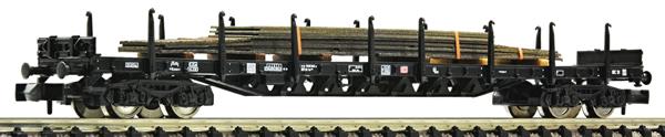 Fleischmann 826811 - Stake wagon that carries steel plates