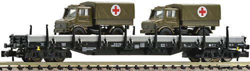 Fleischmann 828706 - Flat wagon with side panels construction Res686 of the DB
