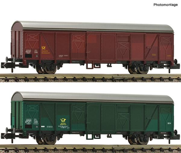 Fleischmann 831513 - 2 piece set postal goods wagon