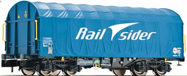 Fleischmann 837925 - Sliding tarpaulin wagon type Shimmns, Rail sider
