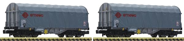 Fleischmann 837927 - 2 piece set slide tarpaul wagons