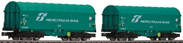 Fleischmann 837928 - 2 piece set slide tarpaul wagons