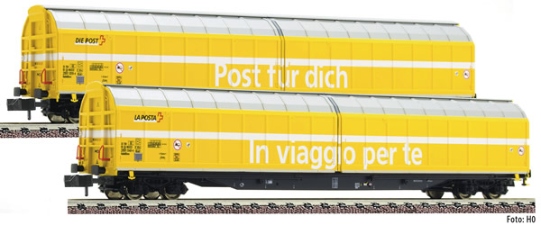 Fleischmann 838312 - 2 piece set high capacity sliding wall wagons SBB