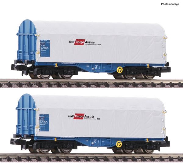 Fleischmann 838820 - 2 piece set slide tarpaulin wagon