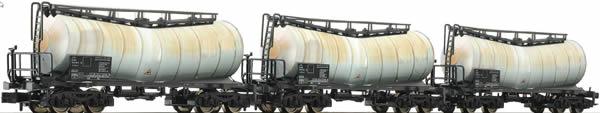 Fleischmann 846006 - 3 piece set slurry wagons, DB AG