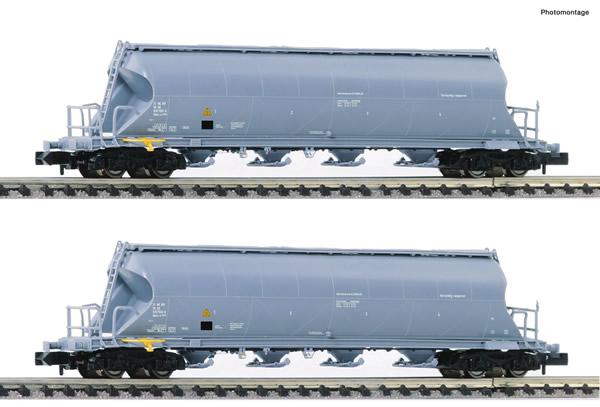 Fleischmann 849006 - 2 piece set dust silo wagons