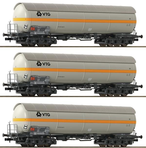 Fleischmann 849102 - 3 piece set: pressure gas  tank wagon