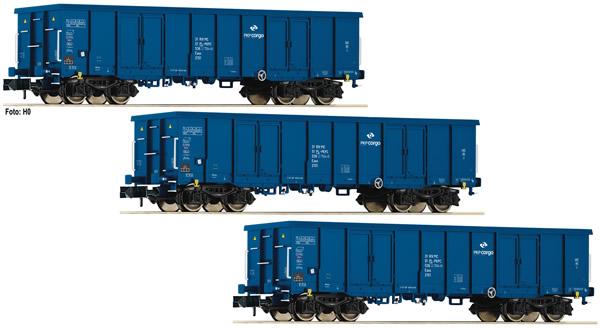 Fleischmann 852329 - 3 piece set gondolas type Eaos PKP
