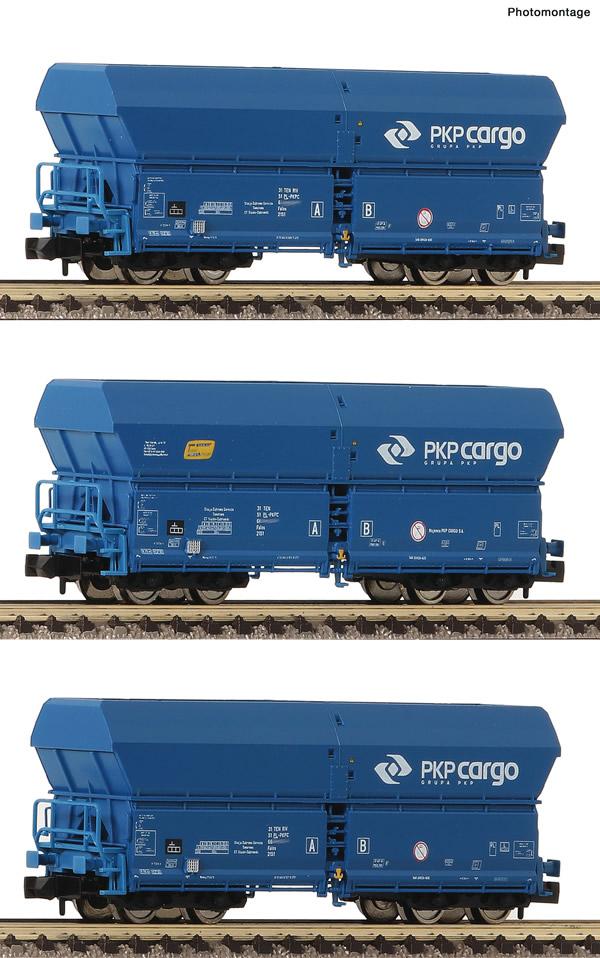 Fleischmann 852330 - 3 piece set self-unloading hopper wagons