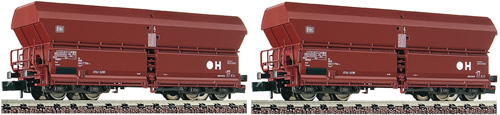 Fleischmann 852416 - German 2pc Hopper Wagon Set type Falns183 of the DB