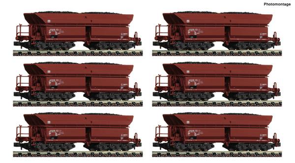 Fleischmann 852702 - Display of 12 pieces: Self unloading hopper wagons type Faalns 150 DB