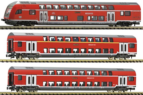 Fleischmann 862810 - 3 piece set: double deck coaches