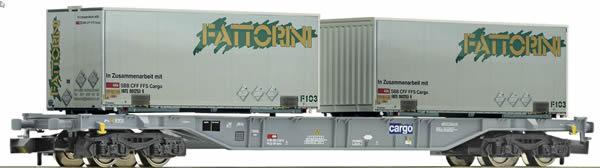 Fleischmann 865242 - Container carrier wagon type Sgns FATTORINI, SBB