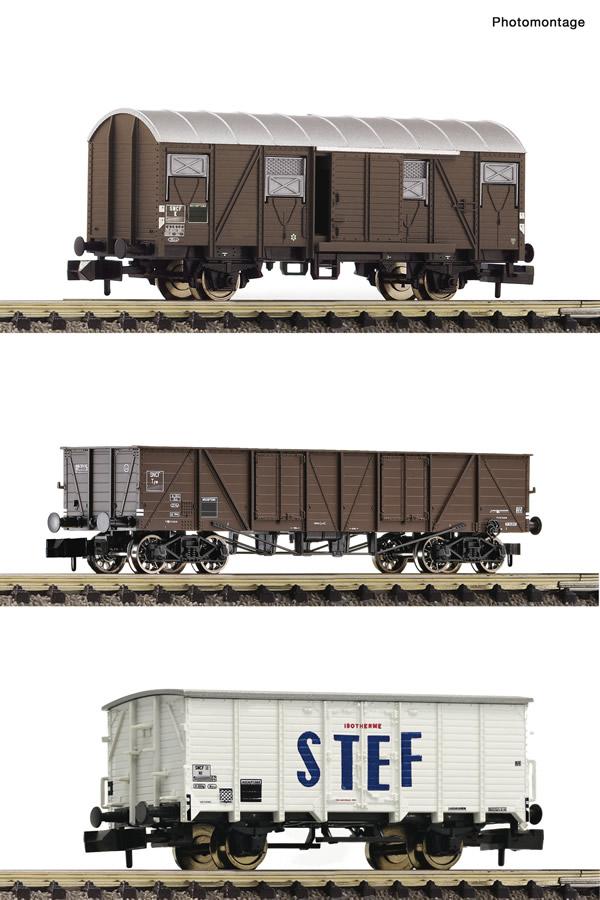 Fleischmann 880904 - 3 piece set goods wagons