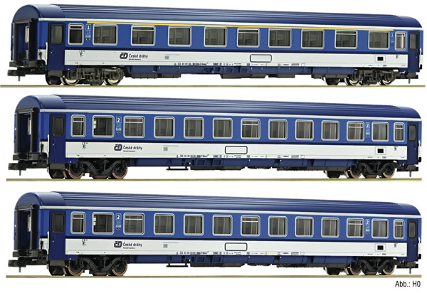 Fleischmann 881807 - 3 piece train set EC Porta Bohemica (Set 2), DB AG