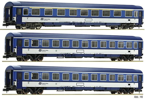 Fleischmann 881807 - 3 piece train set EC Porta Bohemica (Set 2), DB AG