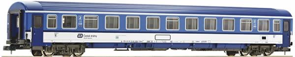 Fleischmann 881809 - 2nd class Eurofima passenger coach EC Porta Bohemica (Set 4), CD