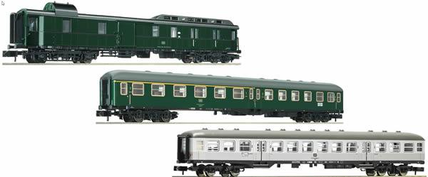Fleischmann 881811 - 3 piece Classic express train set of the epoch IV (Set 1), DB