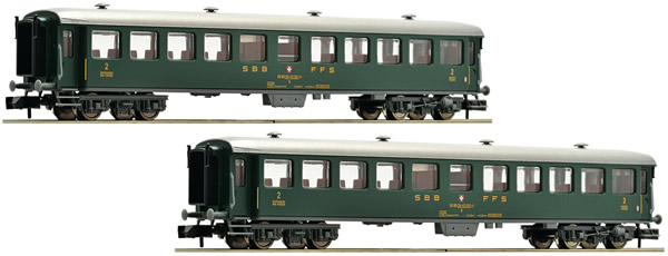 Fleischmann 881814 - 2 piece set express train wagons, SBB
