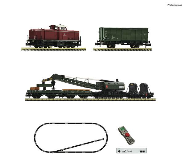 Fleischmann 931899 - Digital Starter Set z21: Diesel locomotive class 212 and construction/maintenance train