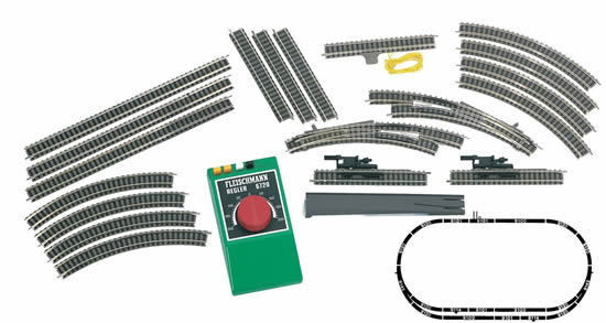 Fleischmann 939901 - Analog Set A+B Starter Set - Track & Control Only