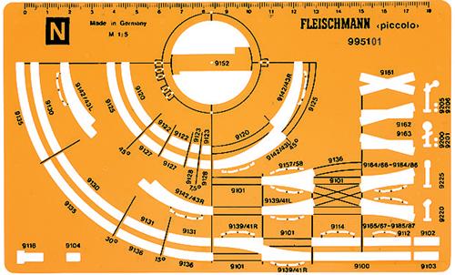 Fleischmann 995101 - N-Scale Trackplanning Stencil