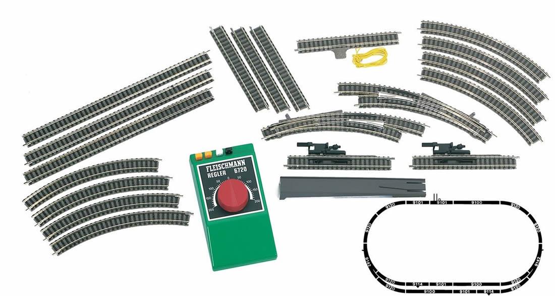 L939901 fleischmann 939901 analog set a b starter set track & control only fleischmann turntable wiring diagram at mifinder.co