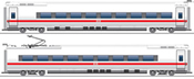 ICE 3 BR 407 Supplement Set Velaro, SET I, AC