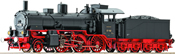 Steam locomotive BR 37 162, blk/red livery w/sound
