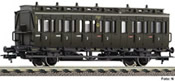 German 3rd class 2-axle Compartment Coach of the DRG