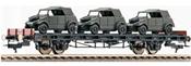 Flat wagon S14, w. mini tank