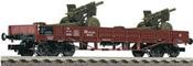 German 4-axle Low side w. 2 Howitzer Guns
