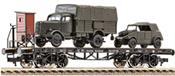 Flat wagon SSK, w. mini tanks