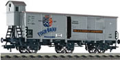 DRG 3-axle beer wagon with brakeman's cab