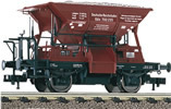 2-axle Ballast Car Wddah, w. Gravel Load, DRG